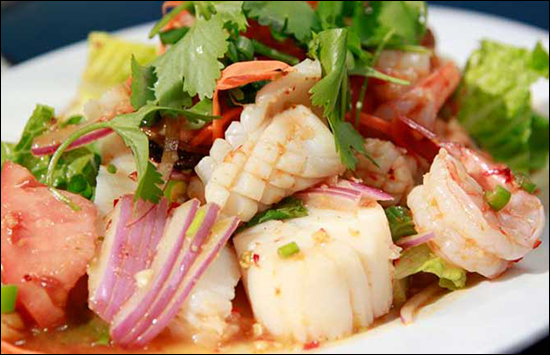 Spicy Thai Seafood Salad